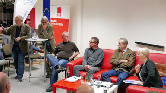 Gerald Hinz, Hartmut Braun, Rainer Herbst, Cord Behrens, Klaus Cording und Heidrun Lemke