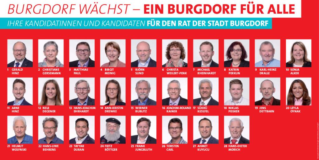 Ihre Kandidatinnen und Kandidaten für den Rat der Stadt